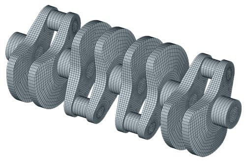 FEM Modell Kurbelwelle