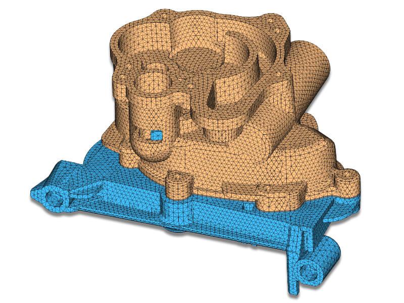 FE-Modell einer Pumpe