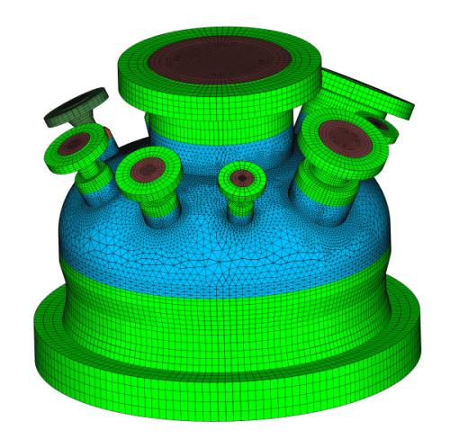 FEM-Modell Hochdruckautoklav