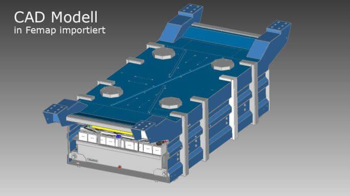 CAD-Geometrie einer Schweißbaugruppe