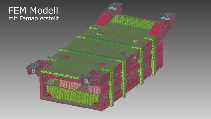 FEM-Modell einer Schweißbaugruppe